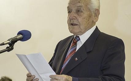 Slavko Grčar, podpredsednik ZZB za vrednote NOB Slovenije, Boršt
