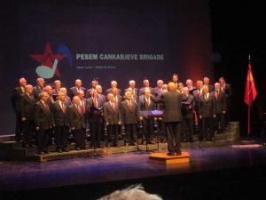 Partizanski pevski zbor na letnem koncertu v Ljubljani, 3. novembra 2016