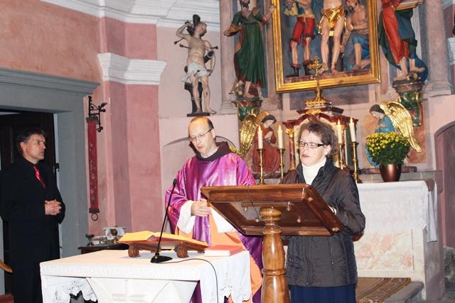 Pridiga patra Bogdana Knavsa v cerkvi sv. Jerneja v Ljubljani, 2. 11.