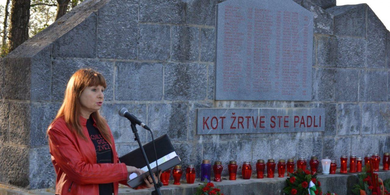 Govor Violete Tomič v Kozlarjevi gošči, 19. oktobra 2017