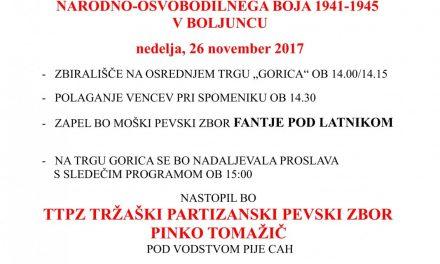 Obletnica spomenika žrtvam NOB v Boljuncu