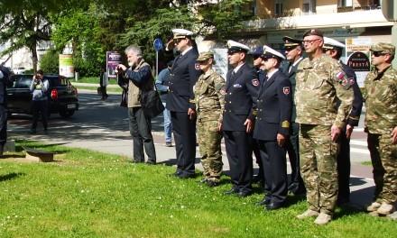 Boris Geršak, kapitan bojne ladje na slovesnosti v Novi Gorici