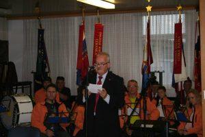 Miha Butara, častni predsednik Zveze slovenskih častnikov, ob 75. obletnici ustanovitve OF in 25. letnici osamosvojitve, Lož, 15. oktober 2016