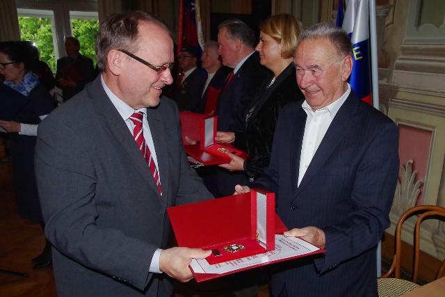 Župan Jože Muhič – prejemnik zlate plakete za življenjsko delo