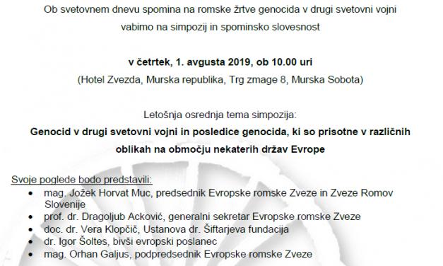 Murska Sobota – Svetovni dan spomina na romske žrtve genocida