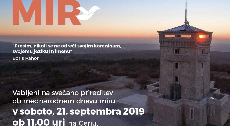Vseslovensko zborovanje za mir – Cerje, 21. septembra 2019