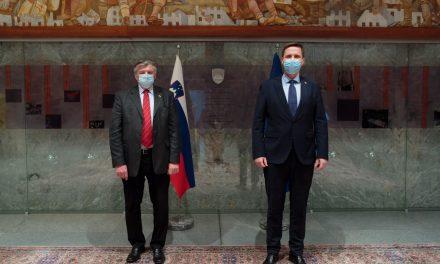 Predsednik DZ Igor Zorčič sprejel delegacijo ZZB NOB Slovenije